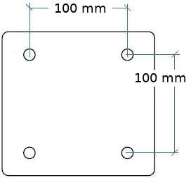 Exemple support VESA 100x100